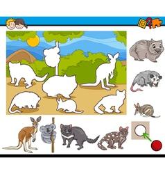 cartoon task for children vector image vector image