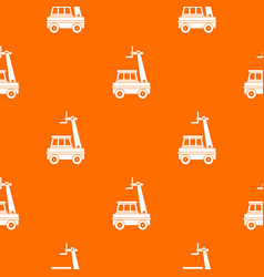cherry picker pattern seamless vector image vector image