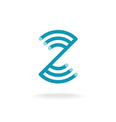 Letter Z technical logo template Mounting round vector image vector image