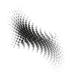 Abstract halftone geometric shape EPS 10 vector image vector image