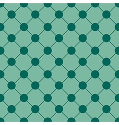 Green Polka dot Chess Board Grid Background vector image