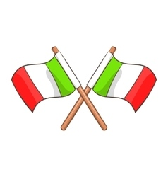 Italy crossed flags icon cartoon style vector image