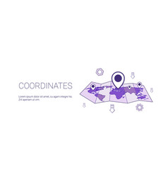 Coordinates geographical location concept web vector