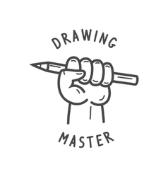 fist holding a pencil vector image