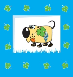 fruity dog vector image vector image