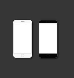 mobile phone screen mockup vector image