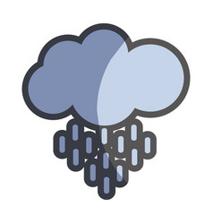 nice cloud and rain weather icon vector image vector image