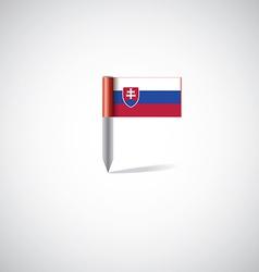 slovakia flag pin vector image vector image
