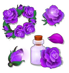 a set items and cosmetics on theme of vector image