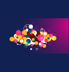 abstract circle pattern and background vector image