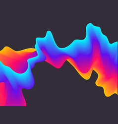 abstract gradient wavy background futuristic vector image