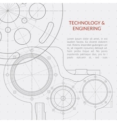 Abstract technology and engineering vector