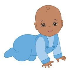 African American Baby Boy vector image
