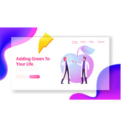 Agricultural genetics landing page template vector