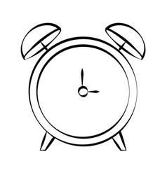 alarm clock doodle vector image