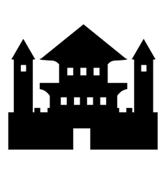 Ancient palace icon simple style vector