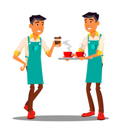 barista at the coffee shop isolated vector image
