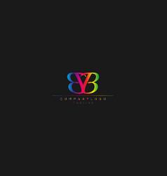 Bb abstract initial monogram letter alphabet logo vector
