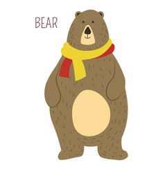 Bear cartoon funny cute animal vector