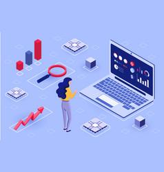 big data analysis concept vector image