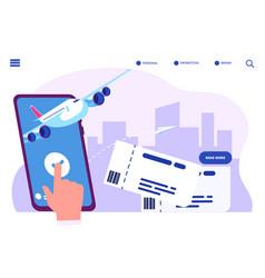 Booking online tickets concept buy vector