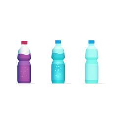 bottle water juice drink beverage flat cartoon vector image