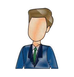 businessman portrait character person profile vector image