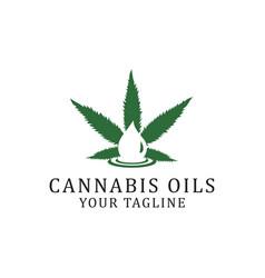 Cannabis oil logo design inspirations vector