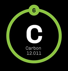 Carbon chemical element vector image