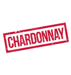 Chardonnay rubber stamp vector image