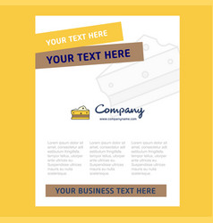 cheese title page design for company profile vector image