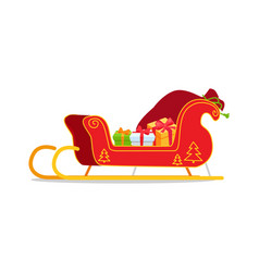 Christmas sleigh with presents vector