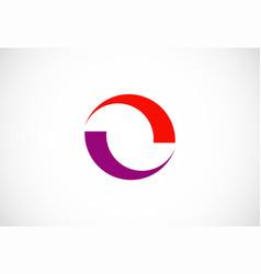 circle balance business logo vector image