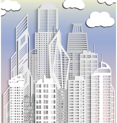 cityscape made paper vector image