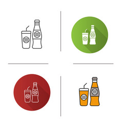 Cold drinks icon vector