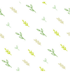 Cute green branches background vector