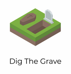 Digging grave vector
