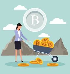 Digital mining bitcoin vector