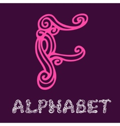 Doodle hand drawn sketch alphabet Letter F vector