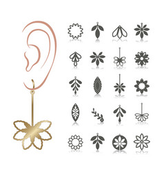 Earrings vector