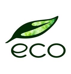 eco logo isolated on white background vector image