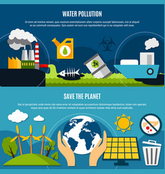 Ecology and pollution banners set vector