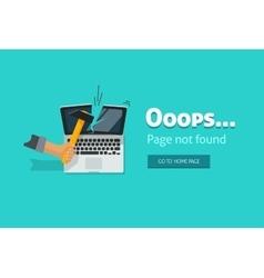 Error page 404 not found design vector