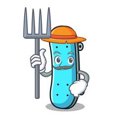 Farmer skateboard character cartoon style vector