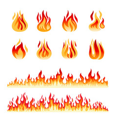 Fire flames isolated vector