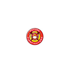 firefighter emblem logo icon vector image
