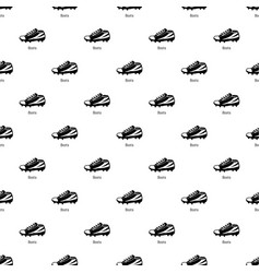 football boots pattern seamless vector image