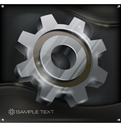 Gear on metal vector image