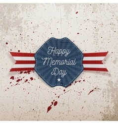 Happy Memorial Day patriotic Emblem with Text vector