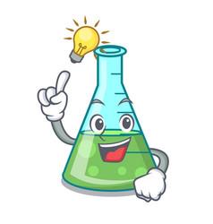 Have an idea science beaker mascot cartoon vector